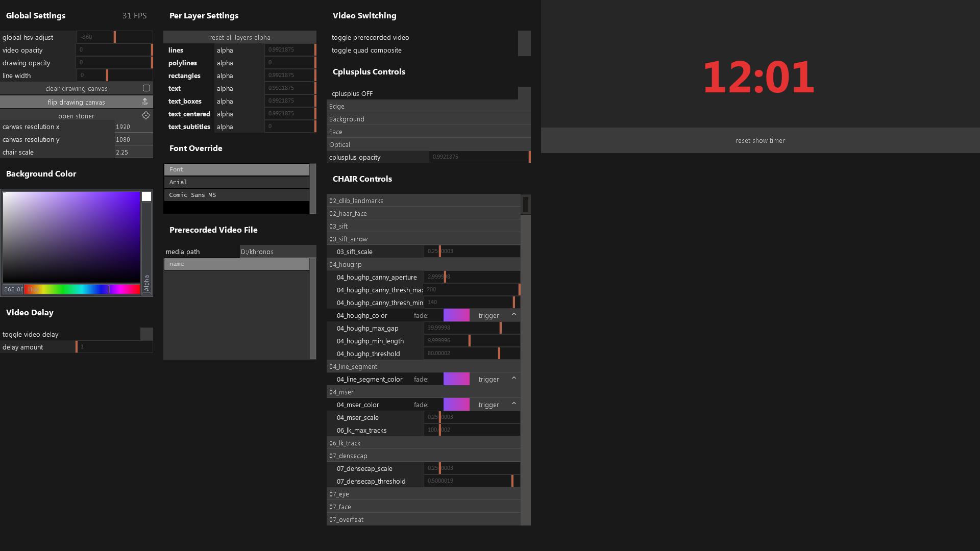 Custom TouchDesigner interface, which builds itself based on a set of parameters received upon load