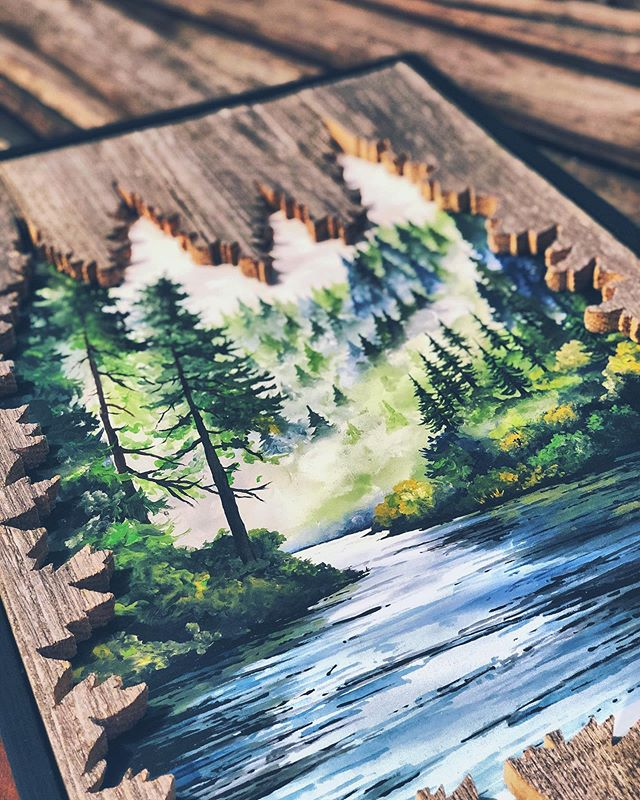 Missing the cool breeze in Washington already. It's hot in Sacramento 😂 www.woodensense.com . . . #Woodensense#Art#Artist#Paint#Painting#AcrylicPainting#InstaArt#PNW#PacificNorthwest#Carpentry#Washington#WoodWorking#ReclaimedWood#Painter#PNWonderland#FineArt#Wander#RealisticArt#WestCoast#Artwork#Forest#Trees#Seattle#Water#ArtOfTheDay#NaturePainting#WoodArt#WoodWorkingporn#PhotoRealism#River
