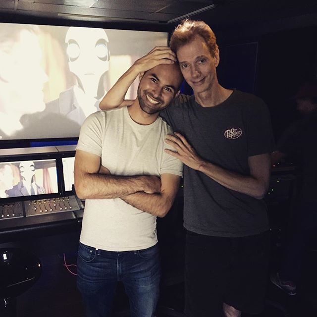 #tbt That time @actordougjones recorded voice-over for your Automata project before heading off to film @shapeofwatermovie! Congrats on all the success, Doug! Your performance was wonderful and it was such a beautiful film! #throwbackthursday #filmmaking #filmmaker #moviemagic #shapeofwater #bestpicture #actorslife #bts #behindthescenes #scifi