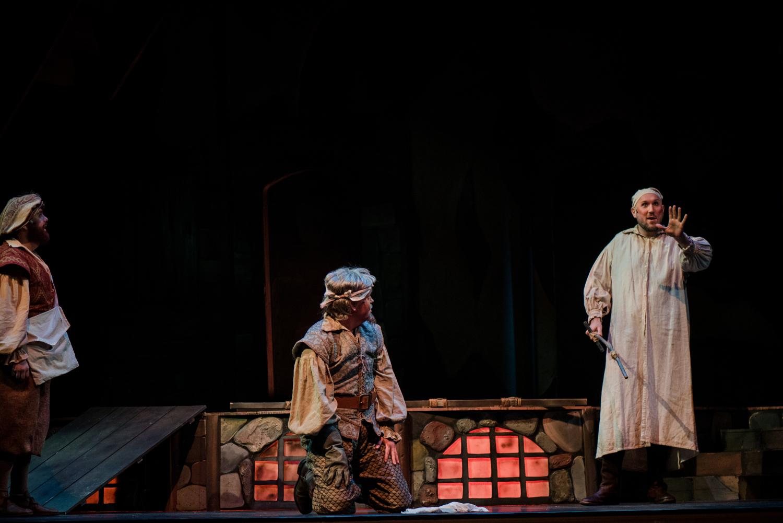 Orin Strunk as Sancho Panza  Corey McKern as Don Quixote/Alonso Quijana