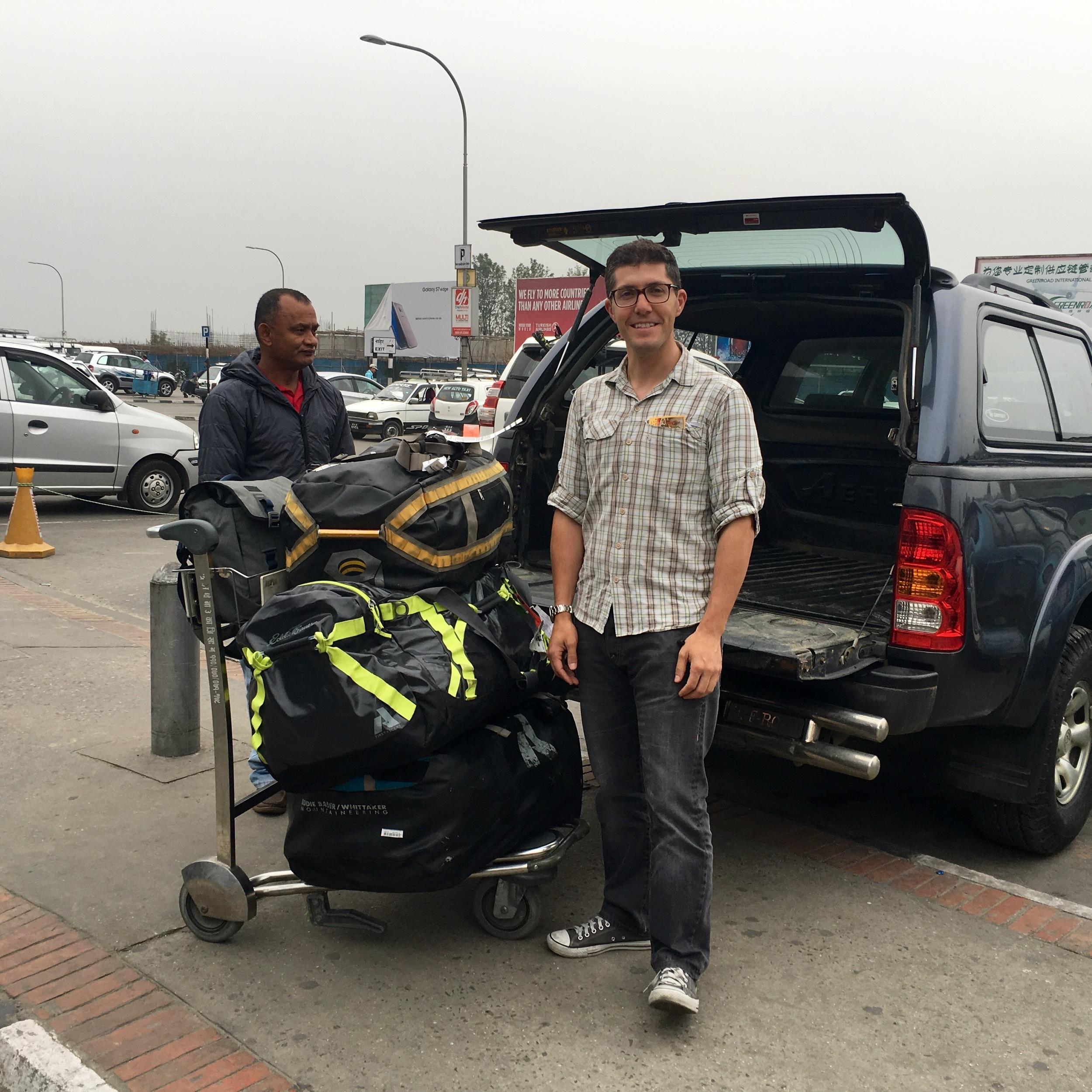 Arriving at Kathmandu Tribhuvan International airport