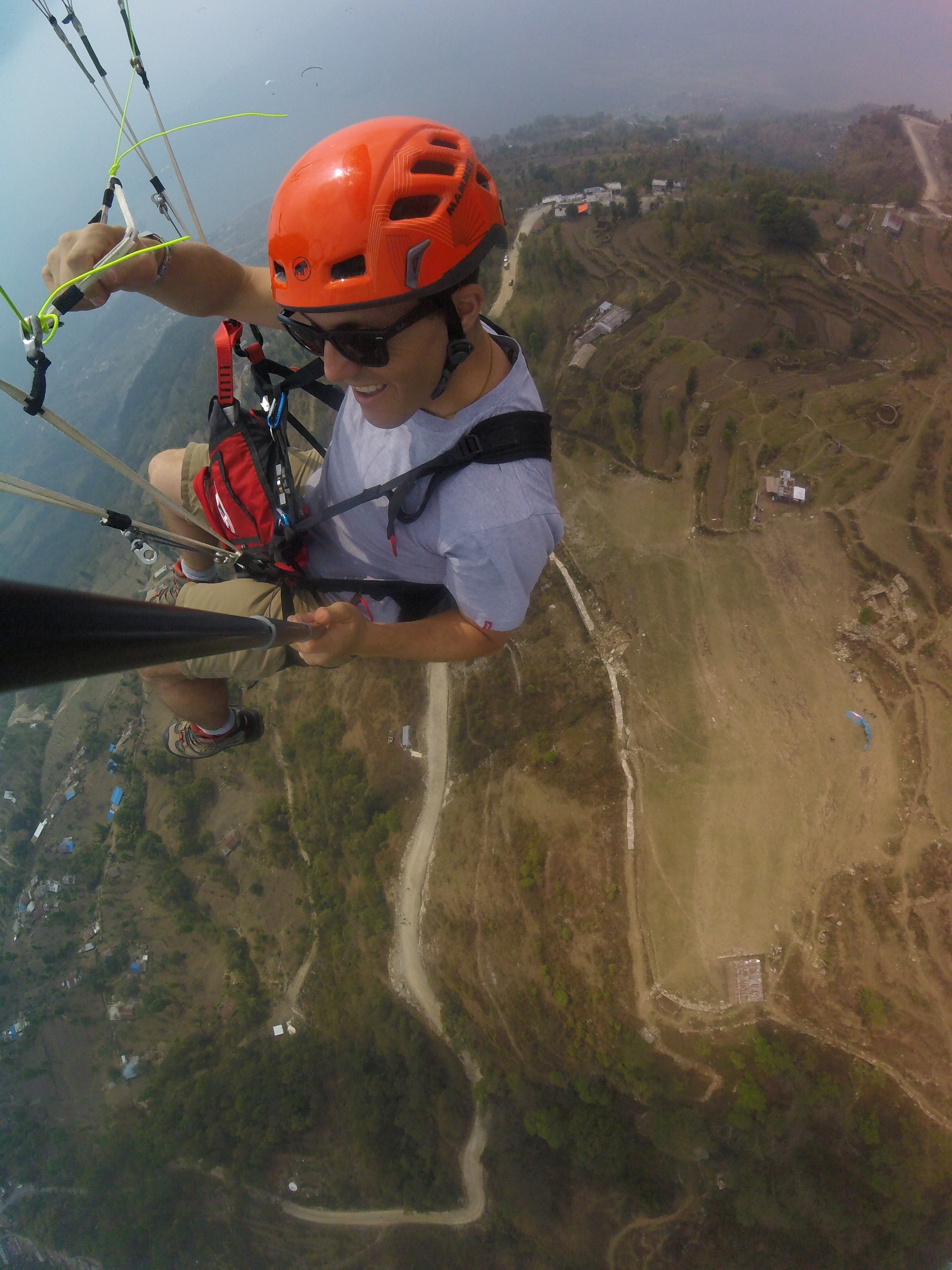 Paragliding over Sarangkot, the launch above Pokhara
