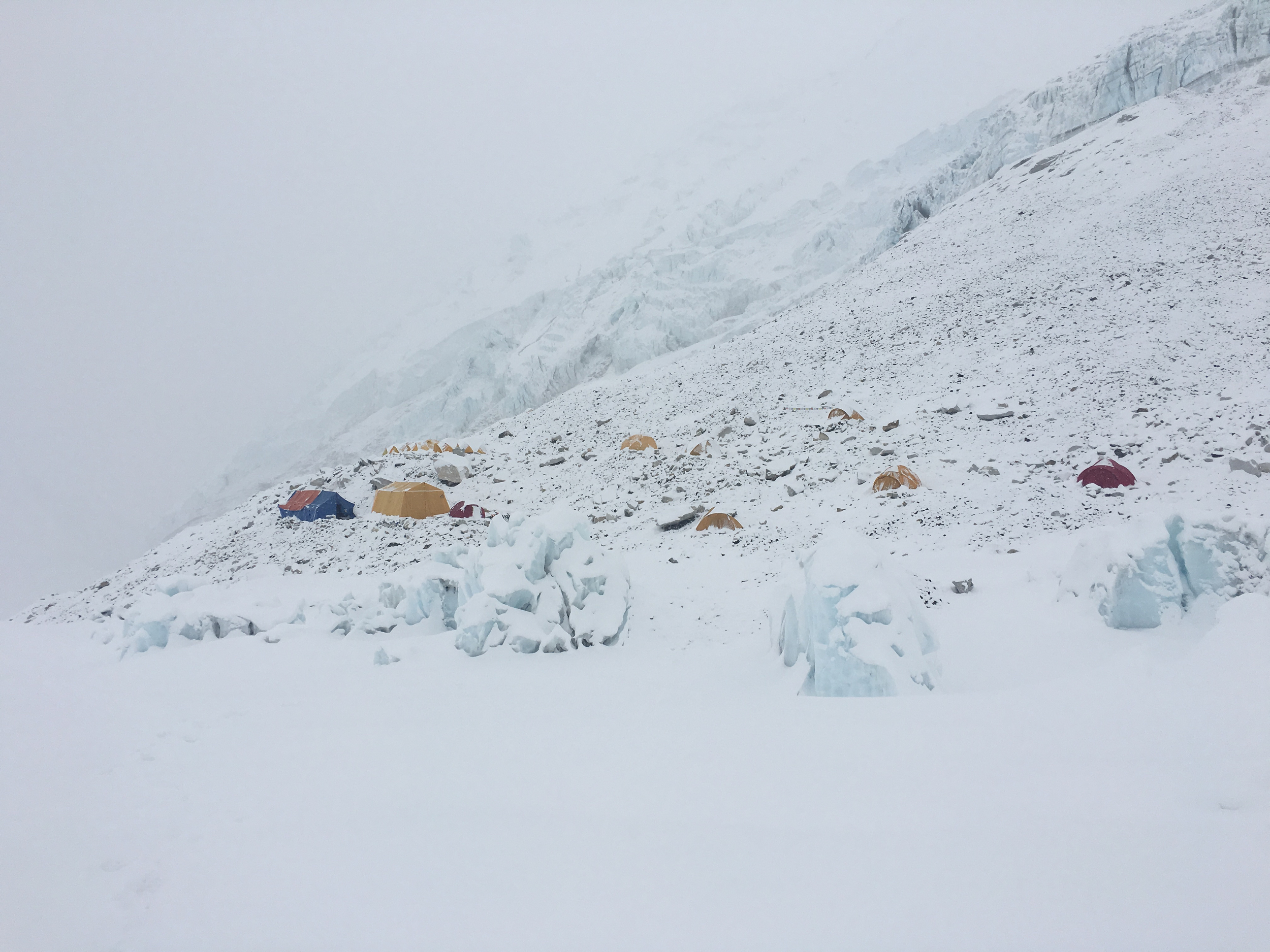 Camp 2 under the snow