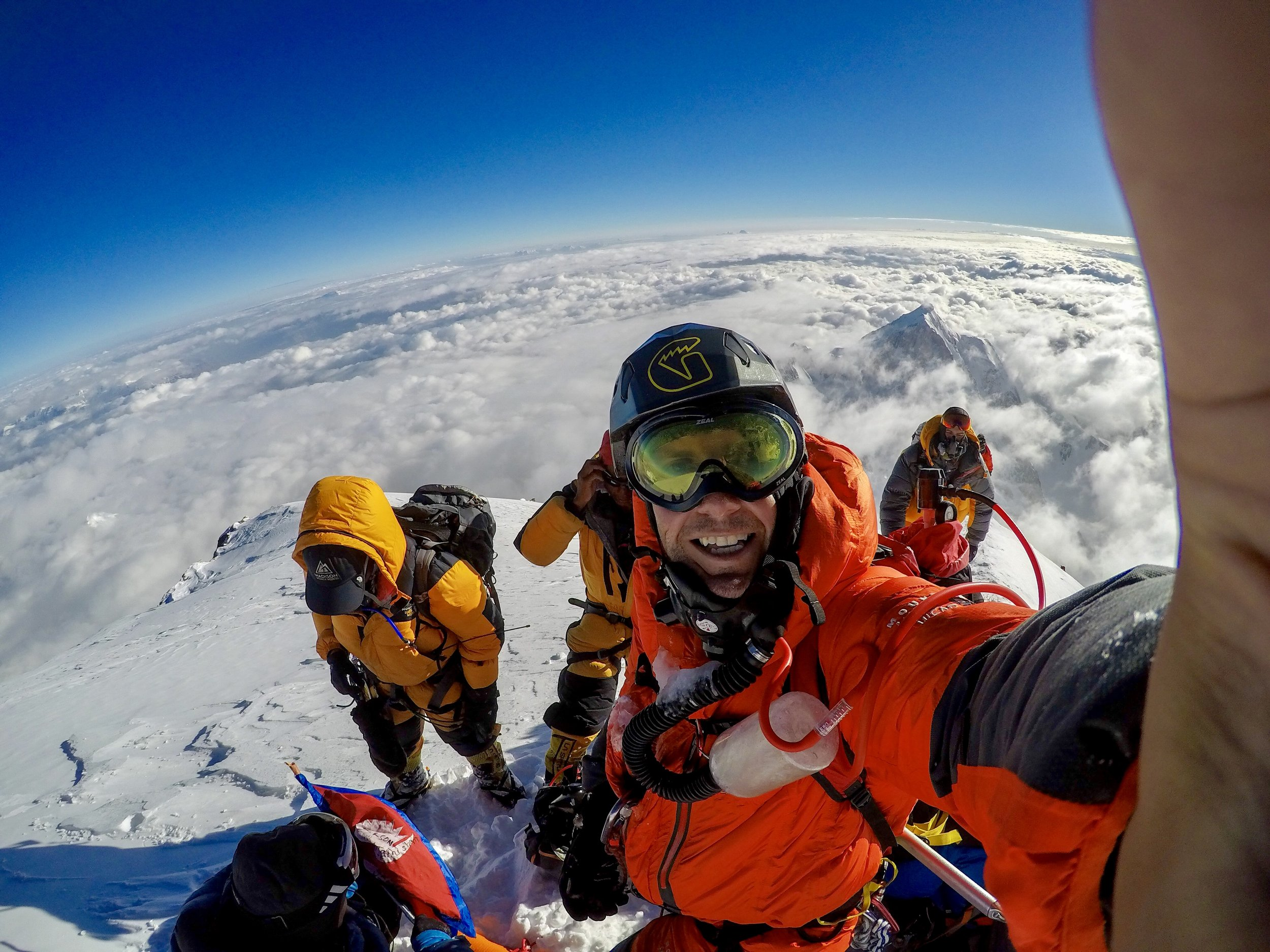 At the summit of K2