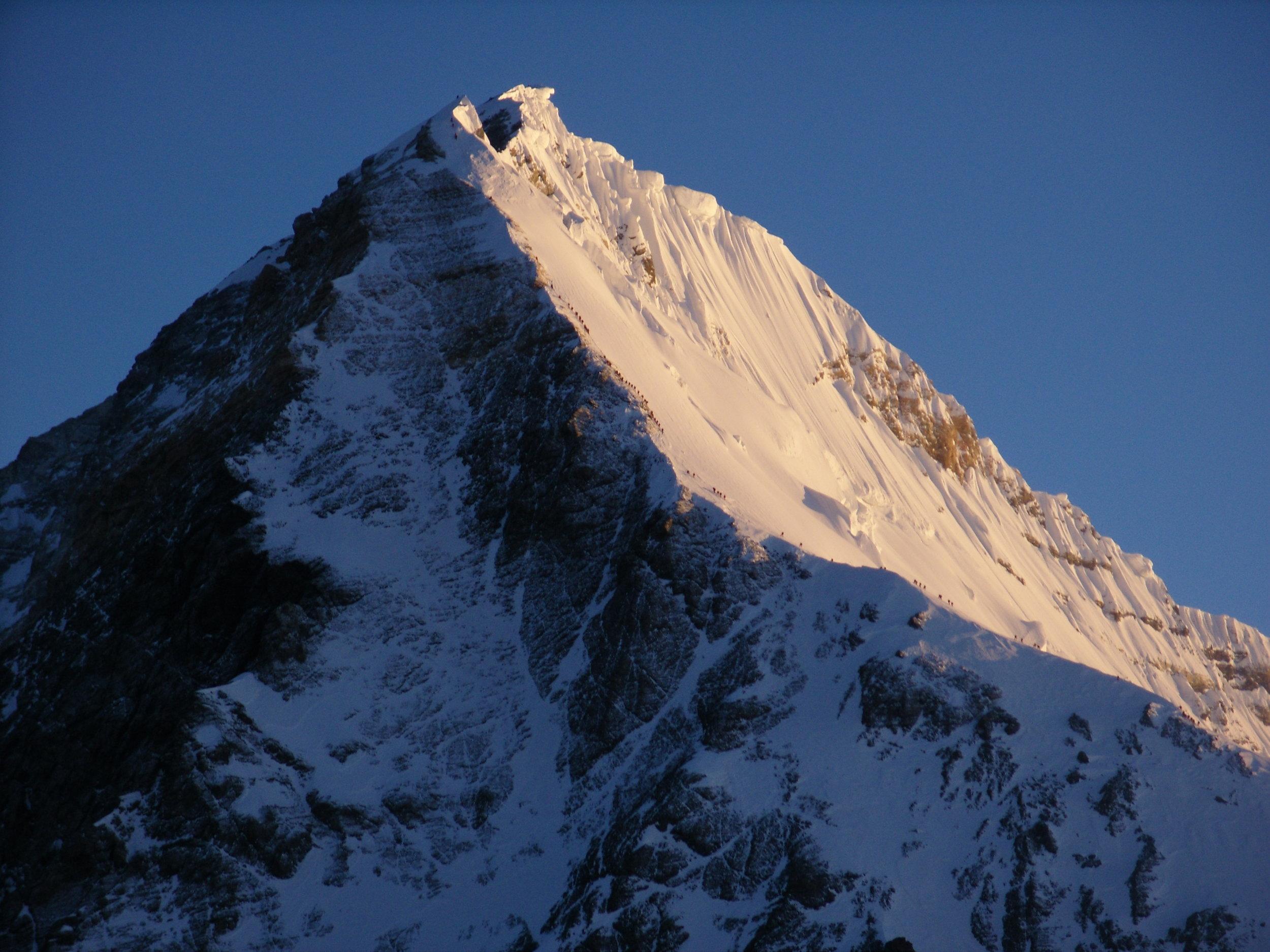 Everest seen from Lhotse