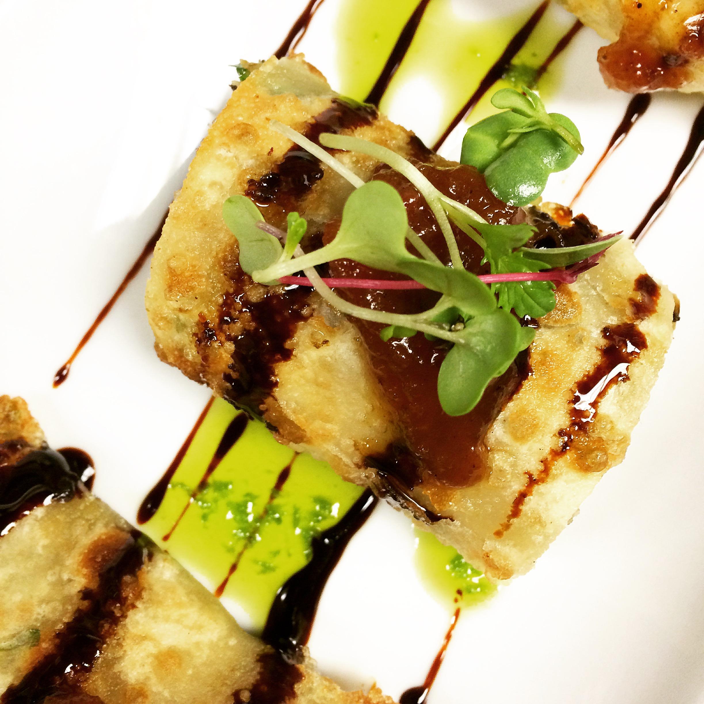 green onion pancake roll