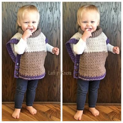Amelia Poncho Sweater - Free Crochet Pattern — Left in Knots
