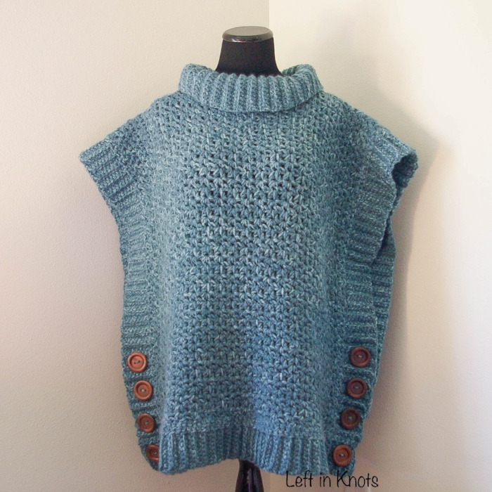 Amelia Poncho Adult Sweater - Free Crochet Pattern — Left in
