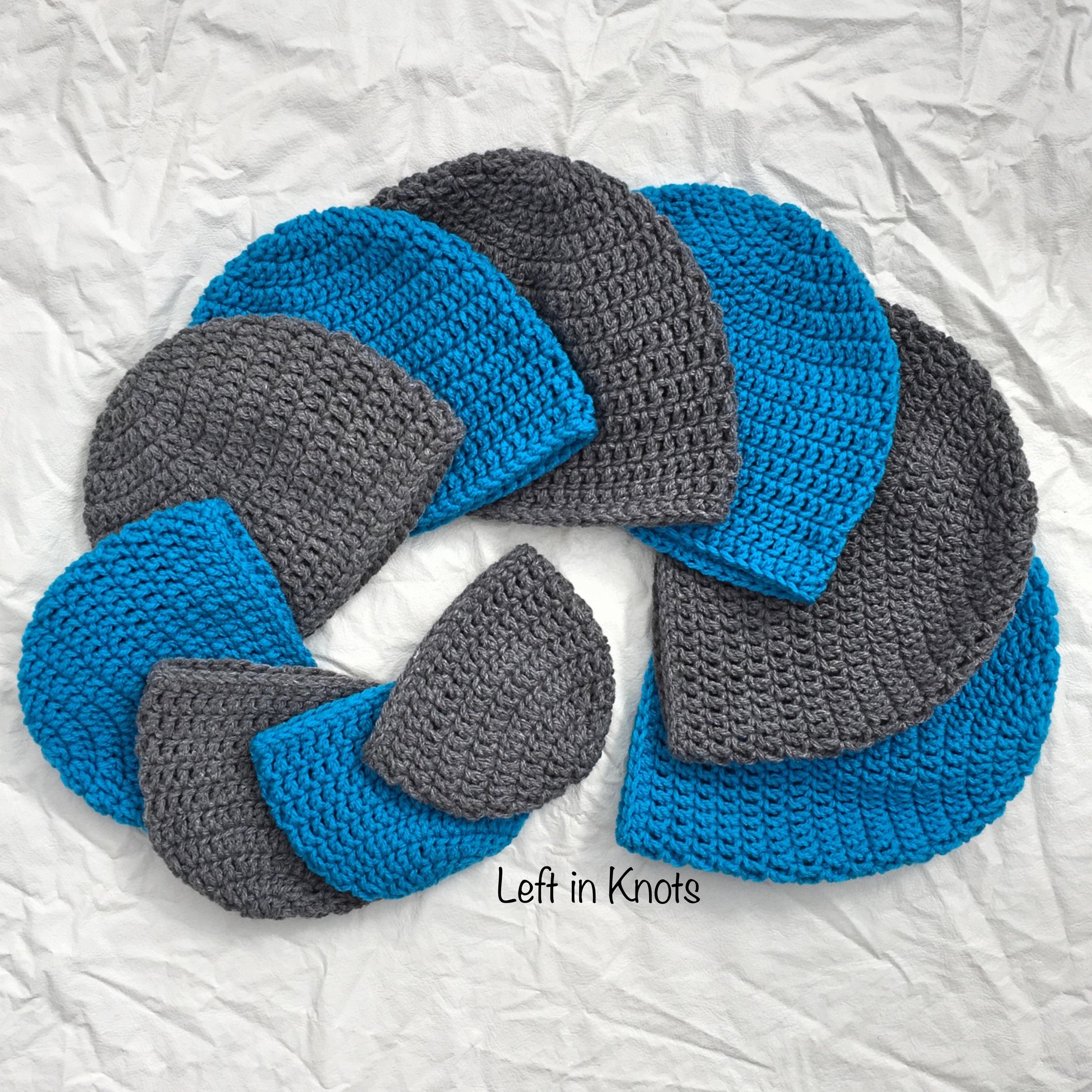 Double Crochet Hat in 10 Sizes