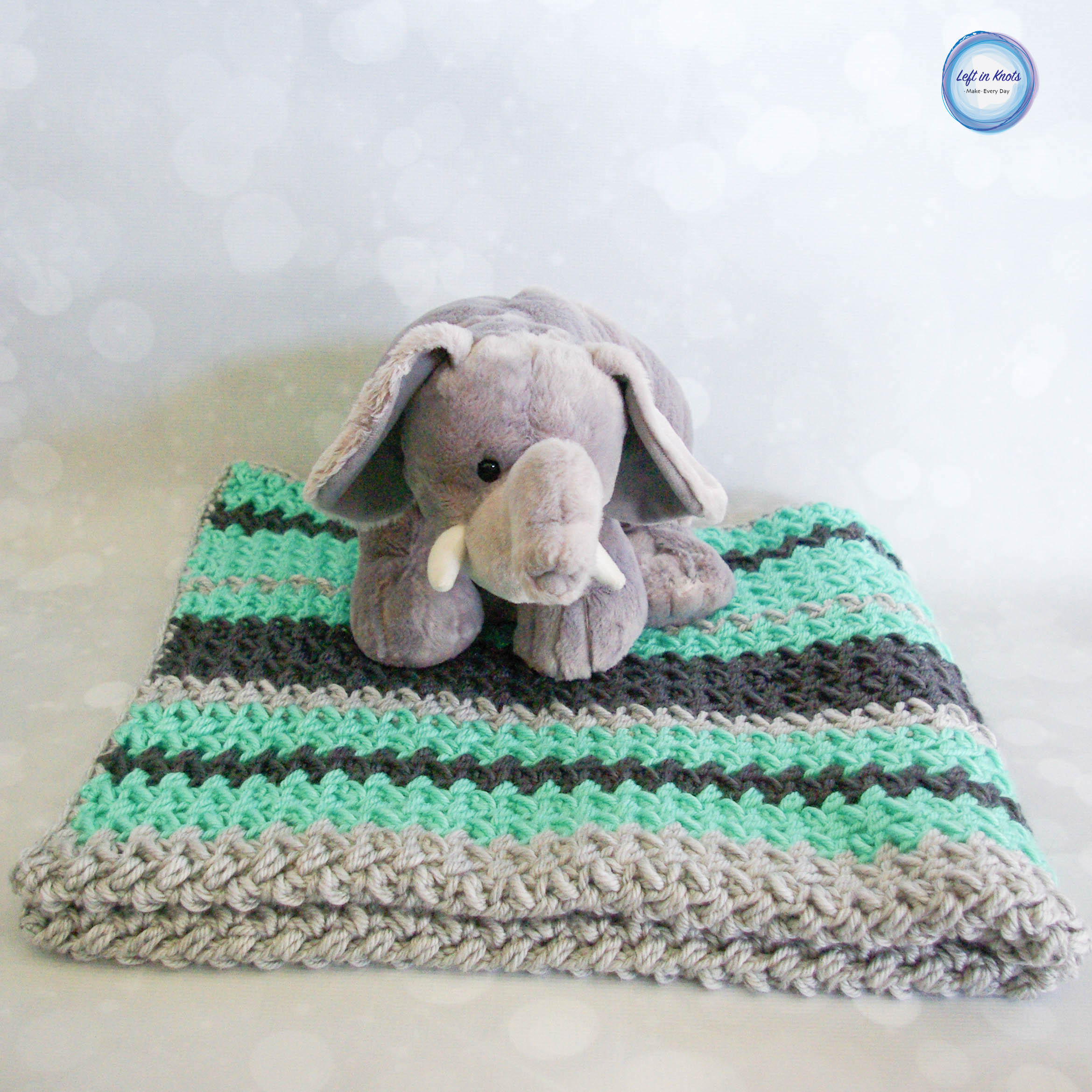 This crochet baby blanket uses a variation of the bean stitch called the mini-bean or baby bean stitch to produce all that yummy texture you see there! And guess what? I have a video tutorial to get you started with this project if you need it!