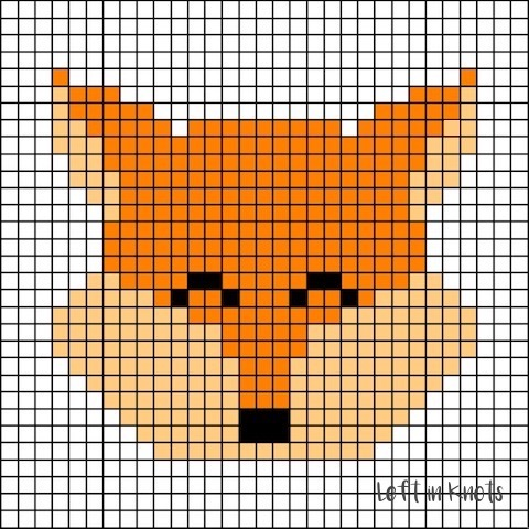 Grids for Kids is back with a woodland animal theme this week! Grids for Kids - Forest Friends is a free crochet pattern that will show you how to turn simple pixel graphs into an adorable plush block. These make wonderful baby toys and could also be used as blanket squares. Each day this week I will release a new square pattern with written color changes. At the end of the week I will show you my finished block and assembly instructions. Below you will find the free written pattern for my friendly little fox square - complete with written color changes!