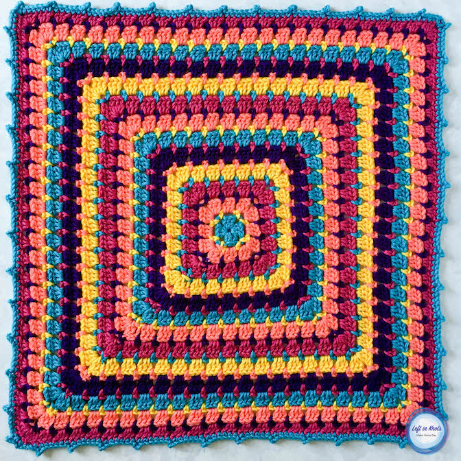 The Building Blocks Baby Blanket is a perfect pattern for playing with color! Use Loops and Threads Colorwheel yarn or your favorite worsted weight yarn to mix and match as many colors as you'd like. This fun play on a classic granny square is called the block stitch, and I have a right and left handed video tutorial to get you started along with the free crochet pattern.