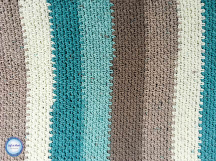 The Beach Glass Placemat crochet pattern uses Caron Cotton Cakes and the moss stitch to make simple yet beautiful placemats perfect for any season! Enjoy my latest free crochet pattern!