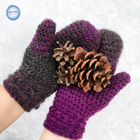 The Star Gazer's Mittens combine texture and warmth to give you a beautiful and functional pair of mittens for the coldest winter days. They take less than one skein of Lion Brand Scarfie yarn and will be a perfect addition to your last-minute gift list this holiday season! This is the second free crochet pattern of my Seven Days of Scarfie pattern collection.