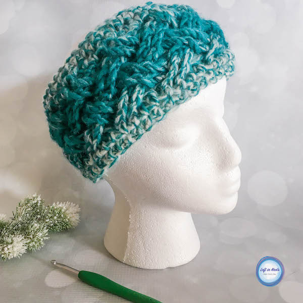 The color gradient of Lion Brand Scarfie yarn plus the elegant texture of the Celtic weave stitch make this ear warmer a quick and stunning piece! The Celtic Winters Ear Warmer takes less than one skein of Lion Brand Scarfie yarn and will be a perfect addition to your last-minute gift list this holiday season! It also matches the Celtic Winters Cowl that I designed last year so you can make a nice matching set :) This is the fourth free crochet pattern of my Seven Days of Scarfie pattern collection.