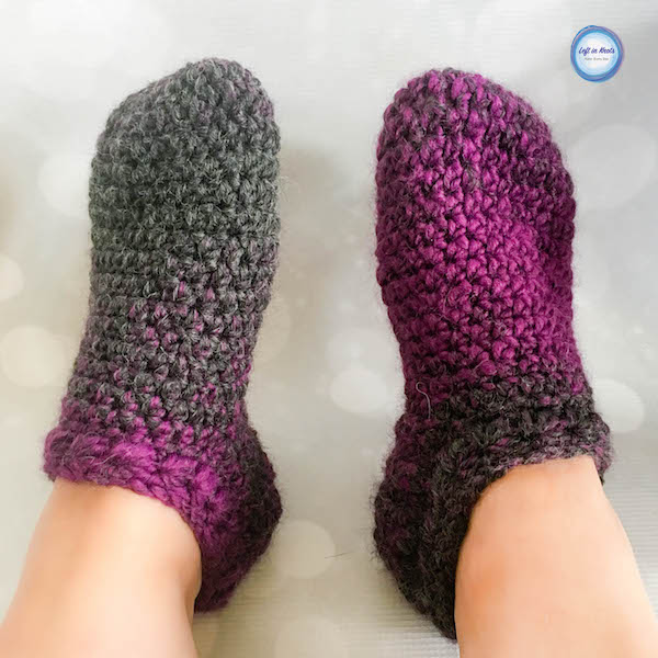 The Star Gazer's Slipper Socks combine texture and warmth to give you cozy pair of slippers for the coldest winter days. They take less than one skein of Lion Brand Scarfie yarn and will be a perfect addition to your last-minute gift list this holiday season. There is even a matching mitten and cowl pattern if you'd like to make a set! This is the sixth free crochet pattern of my Seven Days of Scarfie pattern collection.