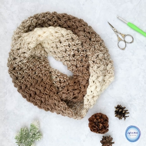 "my ""Seven Days of Scarfie"" 2017 pattern collection was a huge hit! This  Coffee Bean Infinity Scarf  made the top 10 list this year and it is truly one of my favorites. The color gradient, the bean stitch...what's not to love?!"