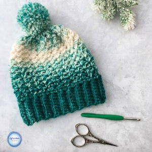 The  Snowball Slouch Hat  is another very popular pattern from my Seven Days of Scarfie 2017 collection! It is written in 4 sizes too, so you can go ahead and make matching hats for the whole family :) My daughter and I have been wearing these all month!