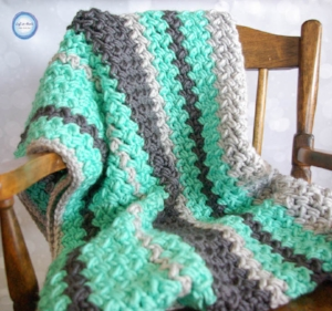 The fact that a baby blanket was my #1 most popular free pattern this year bodes well for me. I am currently pregnant with baby #2 (our first boy!) and I know there will be a few more baby blanket patterns sneaking onto the blog in the near future ;) I can't decide if the random striping, the super soft yet bulky yarn, or the lovely texture of this  Baby Bean Baby Blanket  make it my favorite. Honestly I love everything about it! It is super easy to adjust in size as well and would make a beautiful throw or full-sized blanket at well.
