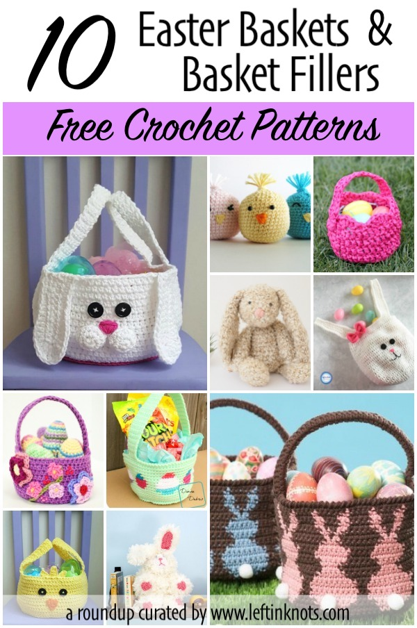 Easter is just around the corner, but you still have time to crochet some cute Easter baskets and basket fillers! These 10 free patterns are great for Easter egg hunts for the babies and kids.