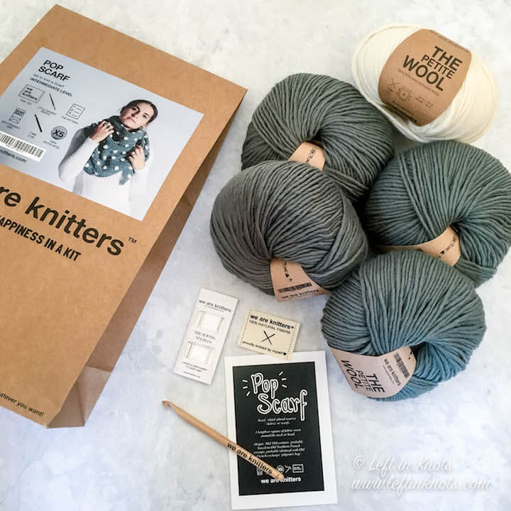 We Are Knitters sent me one of their highly coveted crochet kits for the stunning Pop Scarf, and now they want to share a kit with one of my lucky readers too! So if you have ever been wanting to try 100% Peruvian Highland Wool yarn that is modern, high-end, AND sustainable, you're going to want to keep reading for your chance to enter this awesome giveaway! Open to US and Canada Residents.