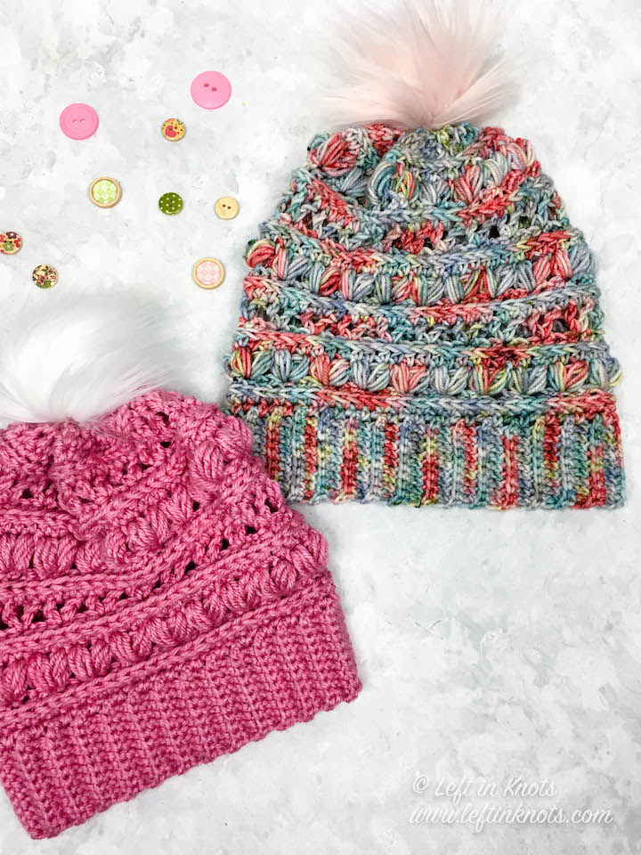 In 2019 I will be celebrating my fellow makers by featuring their incredible products! This hand-dyed yarn in 'Sushi Roll' from Handmade Home Fibers has a romantic color pallet perfect for Valentine's Day. The heart shaped puff stitches give it a nice subtle Valentine's touch as well! No hand-dyed yarn? No problem! I also made one with Lion Brand Heartland yarn with equally beautiful results. Find the free crochet pattern for the toddler, child and adult sizes in one place here.