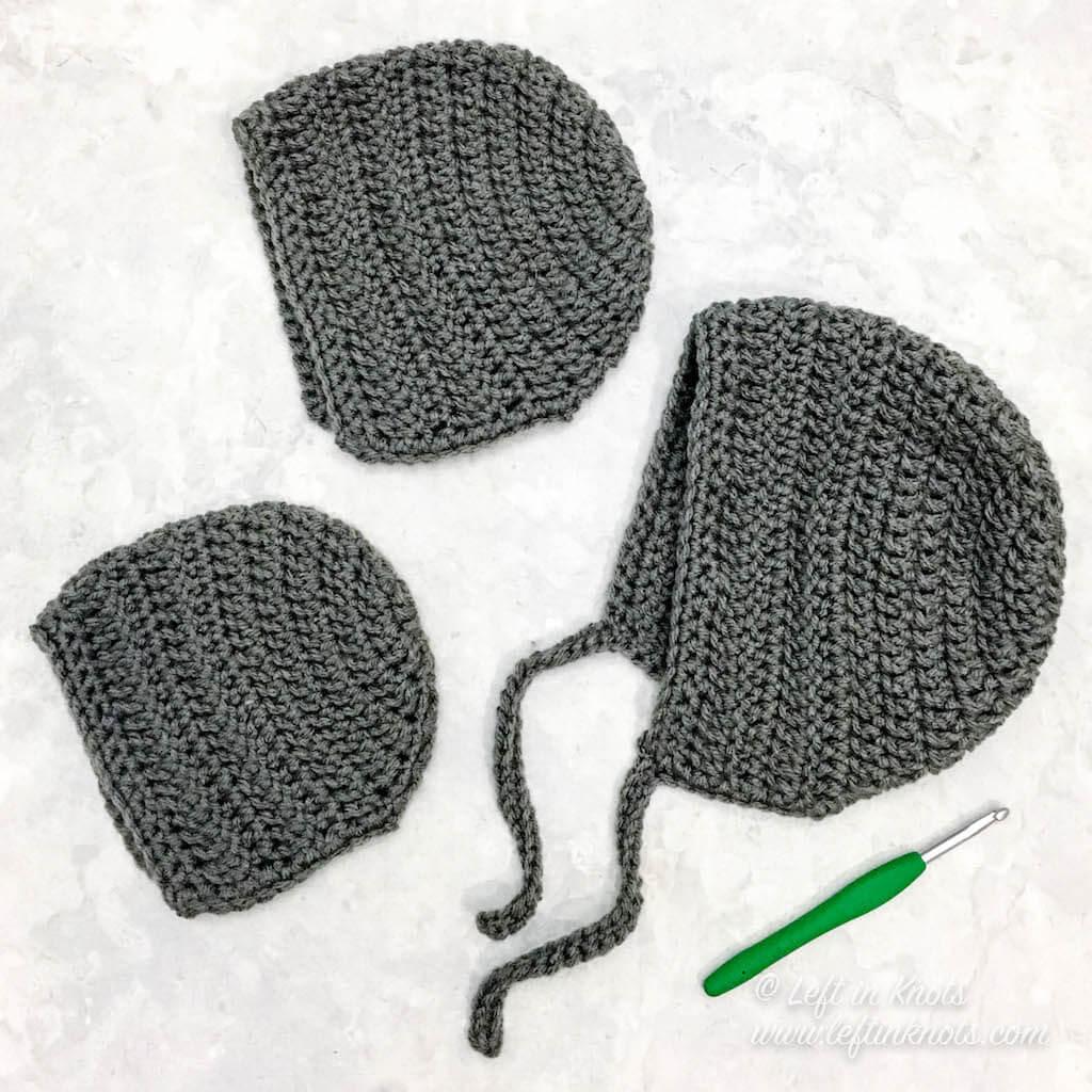 Crochet Bonnet Sizes Newborn Through Adult A Free Pattern Left