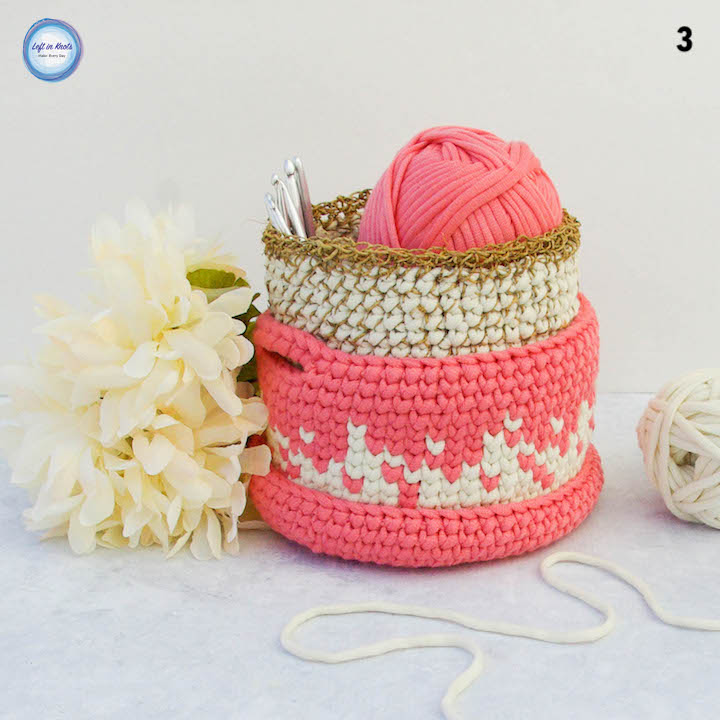 Desktop Stacker Crochet Baskets