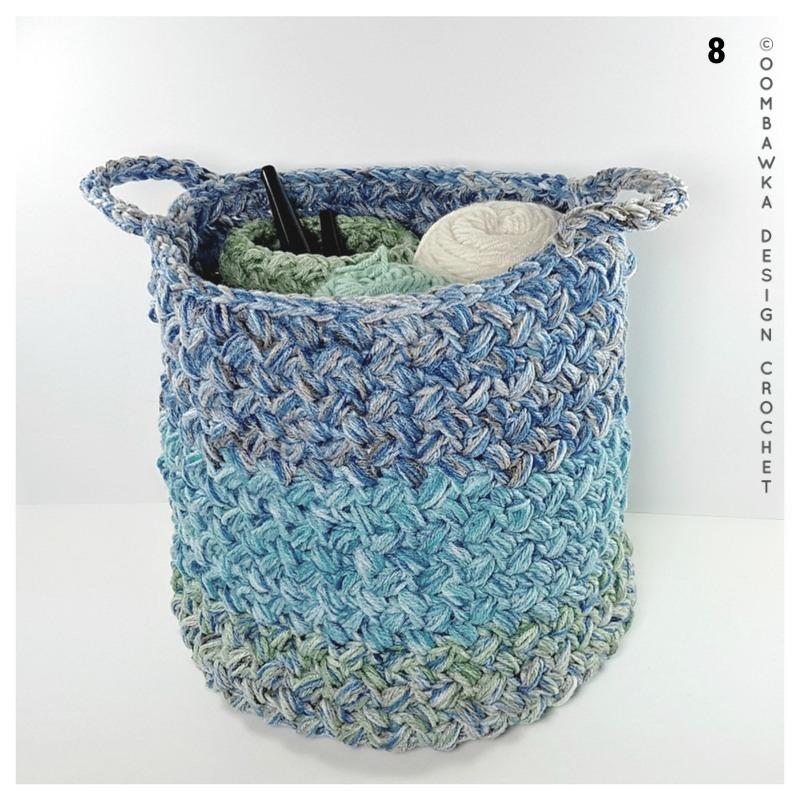 Crochet Yarn Stash Basket
