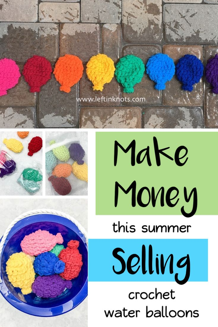 Make and sell Crochet Water Balloons as a way to earn some extra summer cash! These fast and easy toys are a must have for the summer and are loved by all ages.