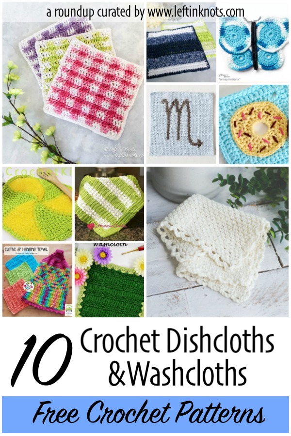Free Crochet Pattern Collection of Dishcloths and Washcloths