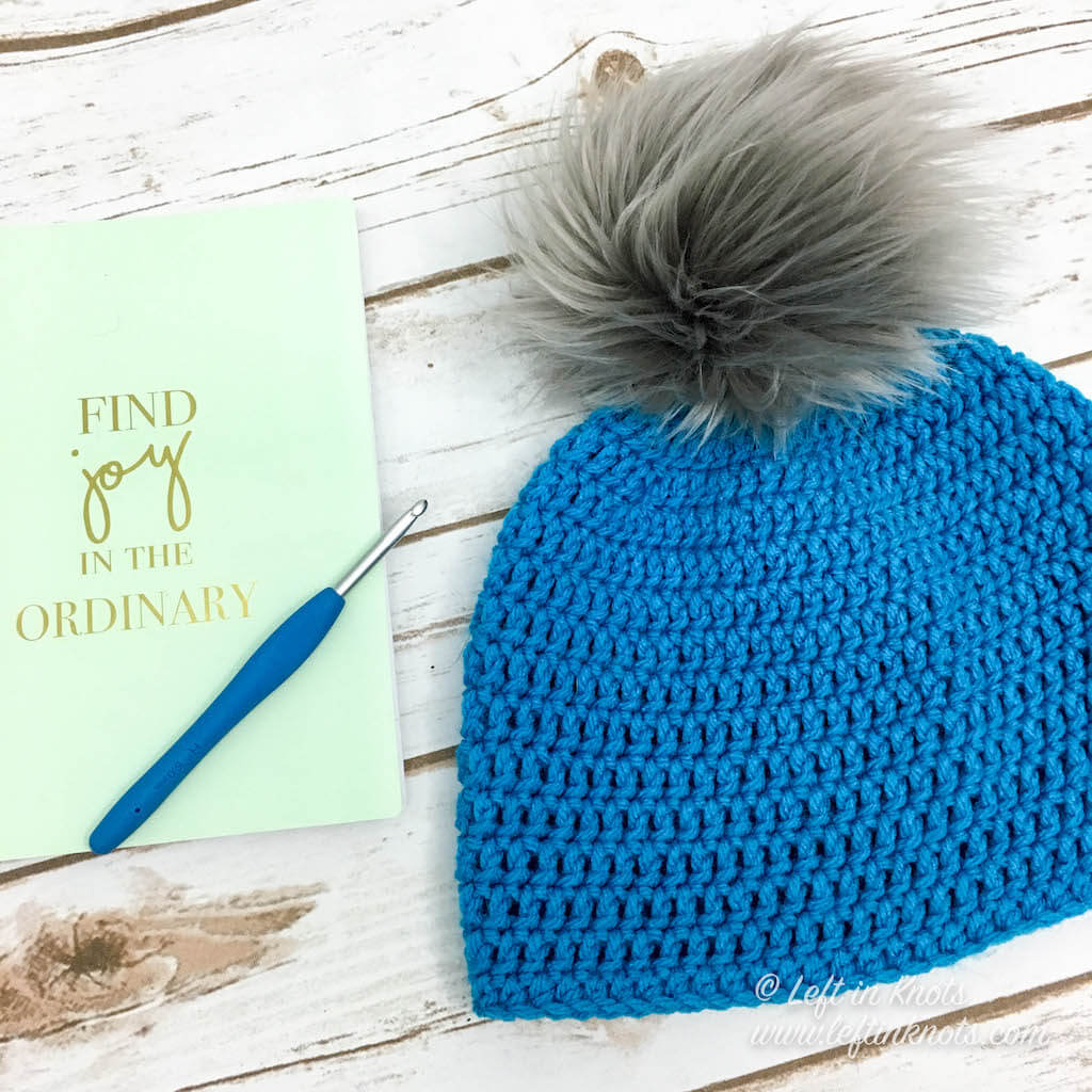 Faux Fur pom from Maria's Blue Crayon in 'Pearl Gray'