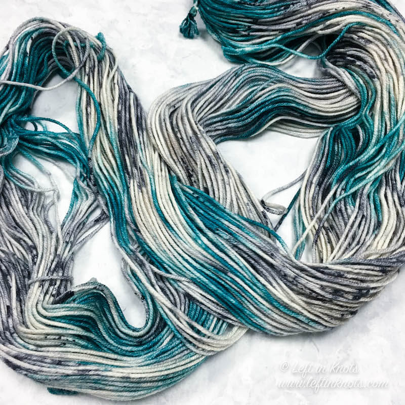 Hand Dyed Yarn from Yarn Loving Lady by Lisa in 'Arctic Paradise'