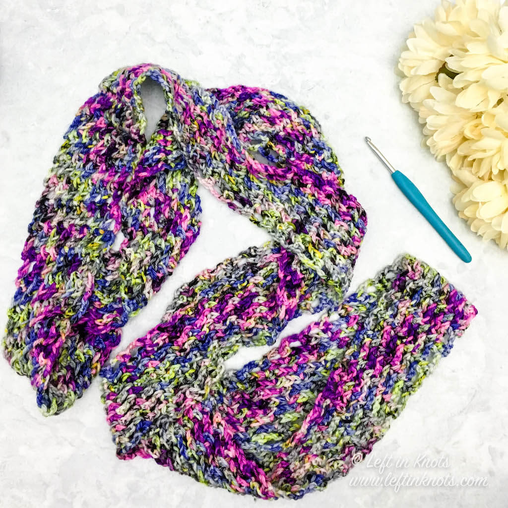 Hand dyed yarn from Hooked on Homemade Happiness in 'Electric Avenue'