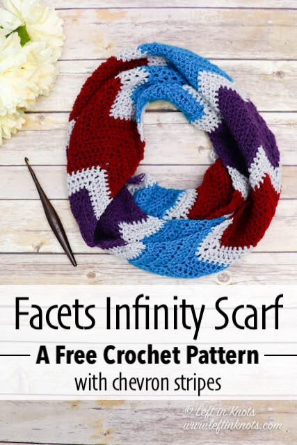 Crochet Facets Infinity Scarf - Free Pattern — Left in Knots