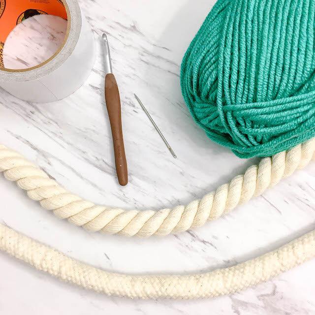 Crochet Bangle Bracelet O Key Ring Free Pattern