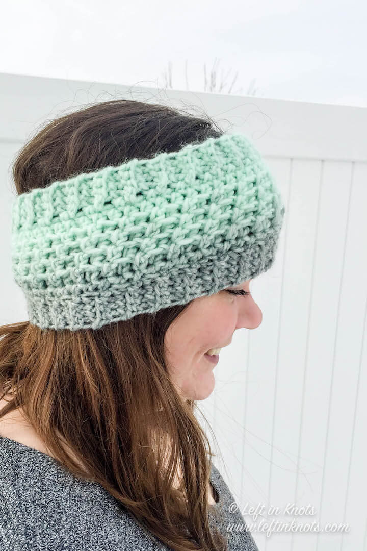 Wintermint Ear Warmer Crochet Pattern
