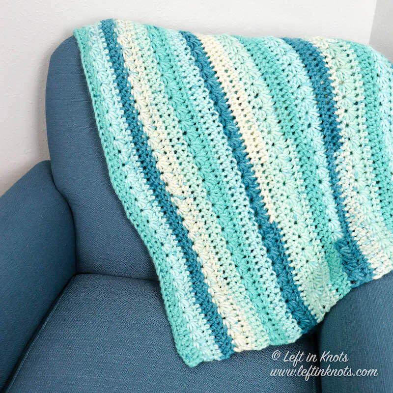 Snow+Drops+Blanket+Crochet+Pattern