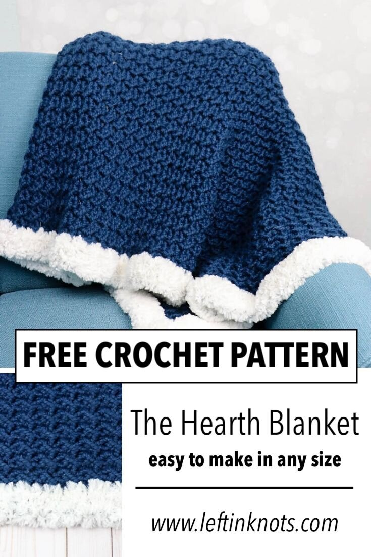 Crochet Crunch Stitch Blanket With Faux Fur Trim A Free Pattern Left In Knots