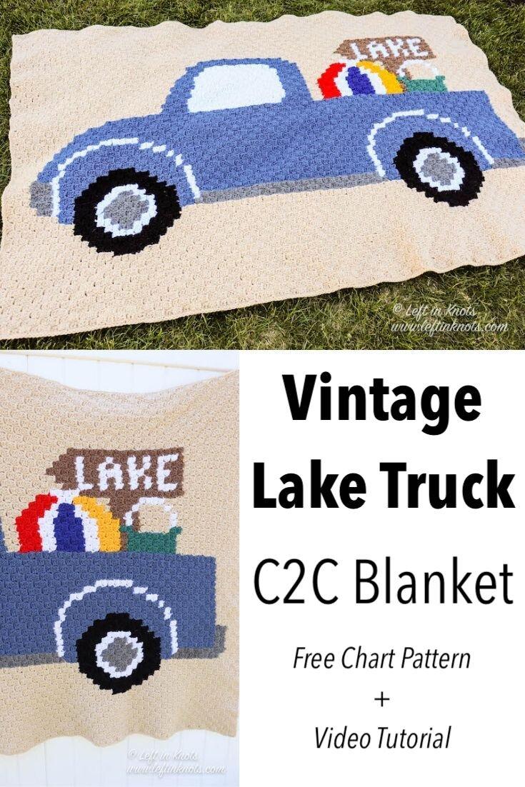 Crochet C2c Lake House Truck Blanket Free Pattern Left In Knots
