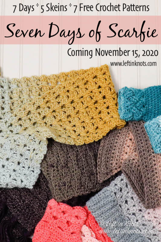 Seven Free Crochet Patterns Get Ready For Seven Days Of Scarfie Left In Knots