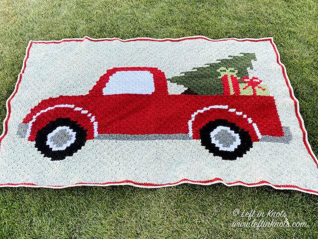 Crochet Flower Truck Pillow PATTERN