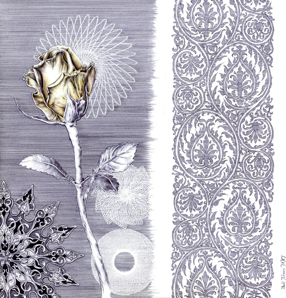 Untitled Floral Pastiche IV (Rose)