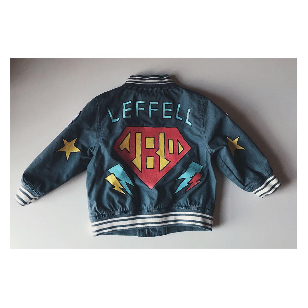 A #superhero jacket for JBO Leffell #pizzafrommars  -