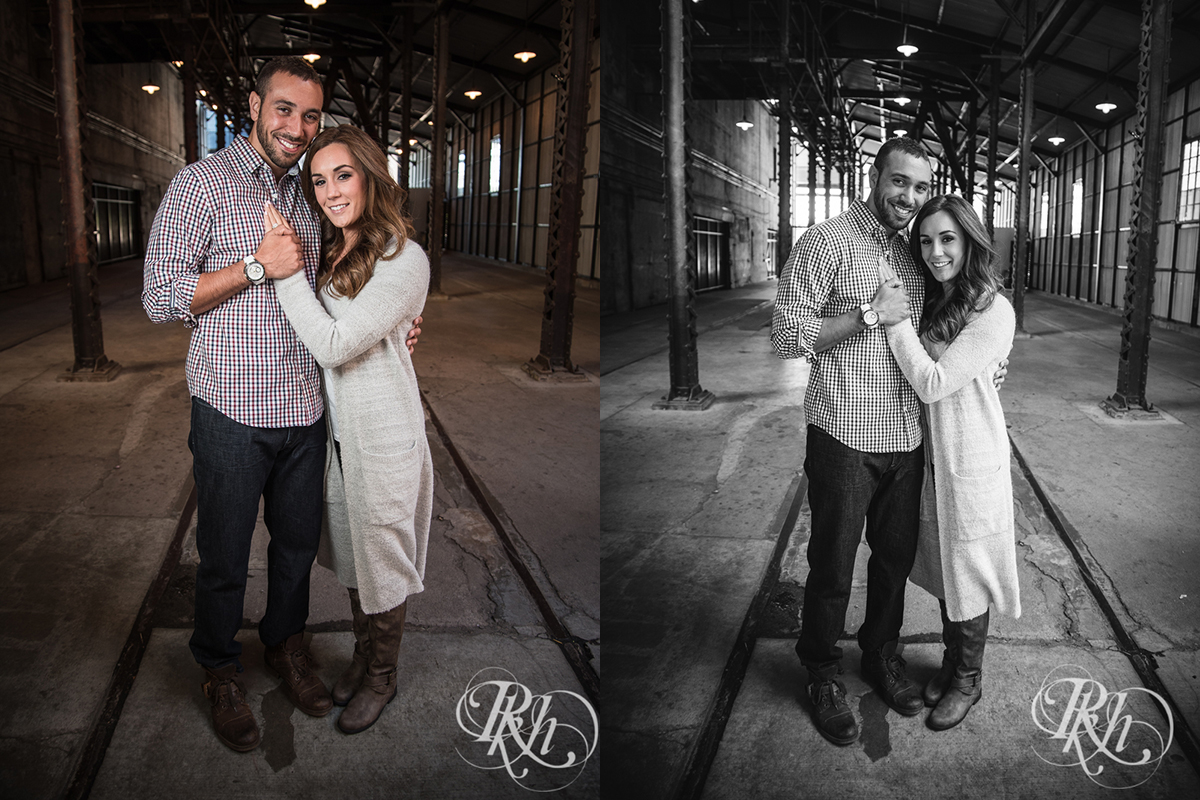 Brittany & Justin - Minneapolis Engagement Photography - Mill City Ruins -31a