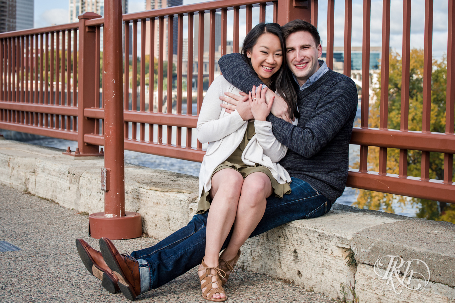 Courtney and Nick - Minnesota Engagement Photography - Stone Arch Bride - RKH Images (2 of 14).jpg