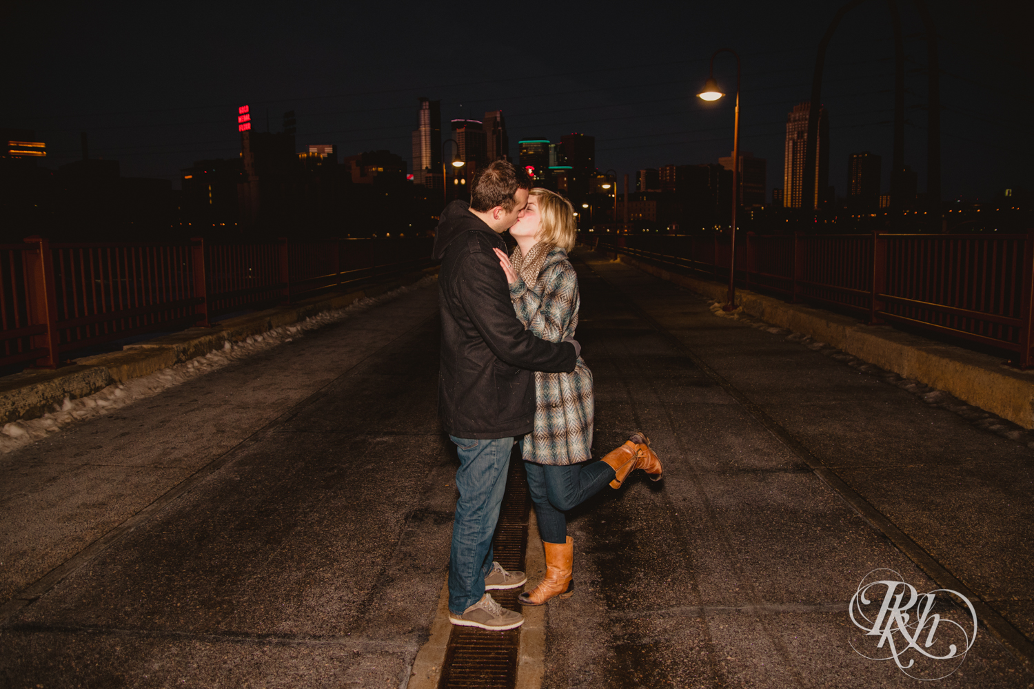 Kate & Kyle - Minnesota Sunrise Engagement Photography - Stone Arch Bridge - RKH Images (2 of 18).jpg