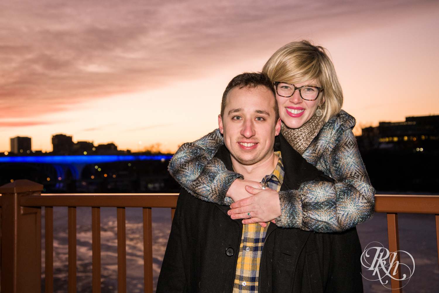 Kate & Kyle - Minnesota Sunrise Engagement Photography - Stone Arch Bridge - RKH Images (4 of 18).jpg