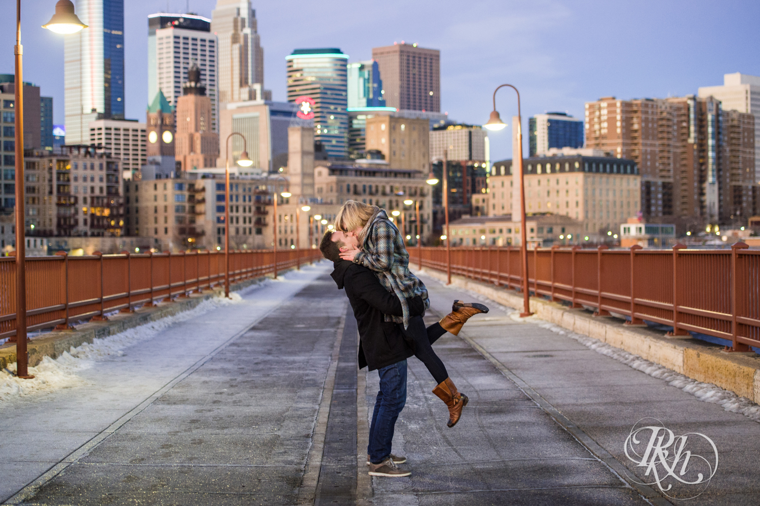 Kate & Kyle - Minnesota Sunrise Engagement Photography - Stone Arch Bridge - RKH Images (3 of 18).jpg