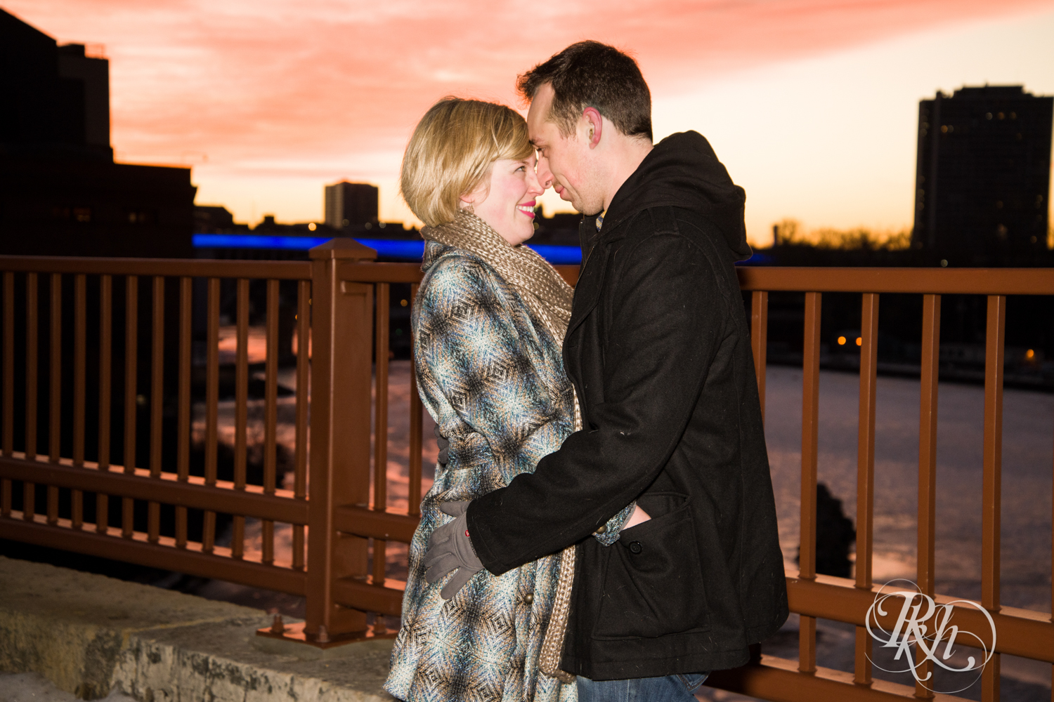 Kate & Kyle - Minnesota Sunrise Engagement Photography - Stone Arch Bridge - RKH Images (5 of 18).jpg